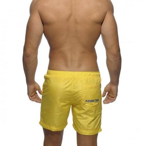Мужские шорты удлиненные желтые Addicted Sport Shorts Yellow
