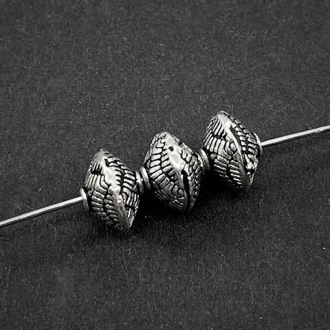 Бусина Синтия 8х5,7 мм серебро 925