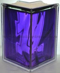 Угловой стеклоблок фиолетовый окрашенный изнутри Vitrablok 19x13x13x8