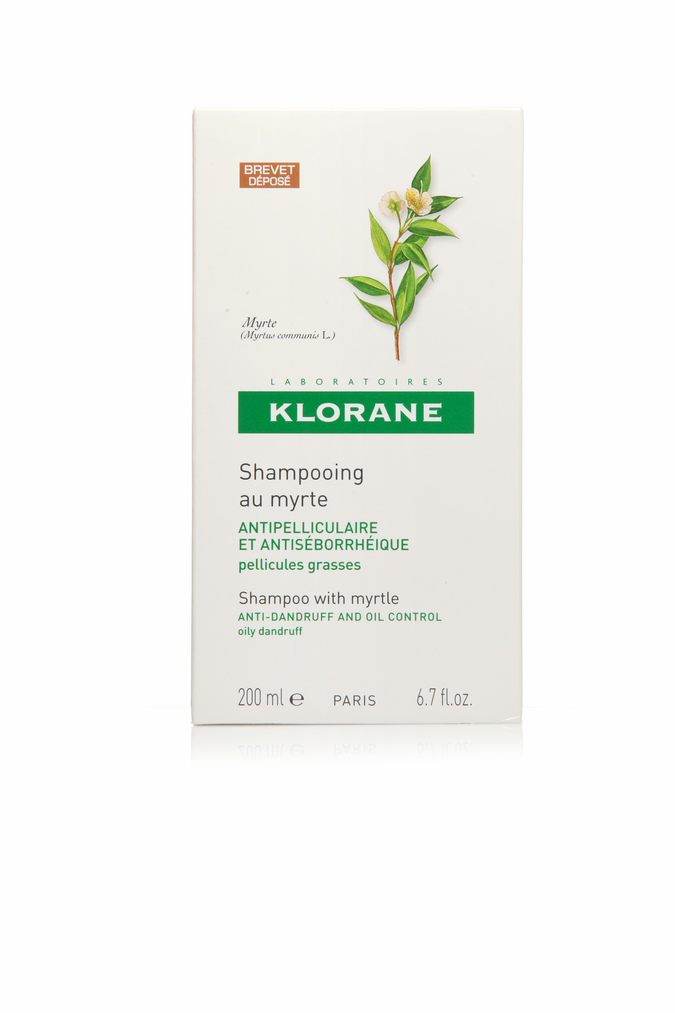 Klorane шампунь c экстрактом мирта от жирной перхоти 200 мл.