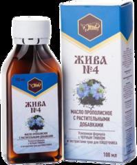 Масло пищевое прополисное с растительными добавками ЖИВА № 4 для кишечника
