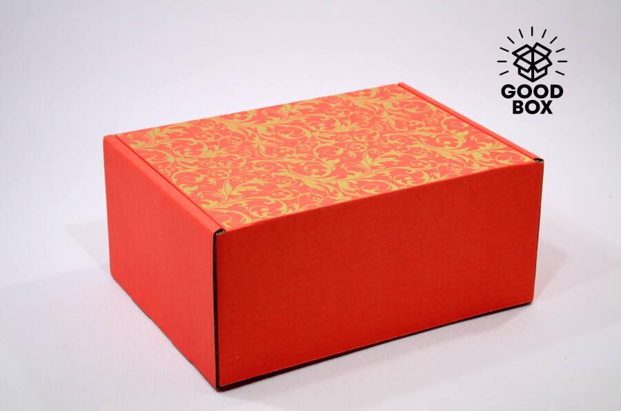 Коробка шкатулка красная