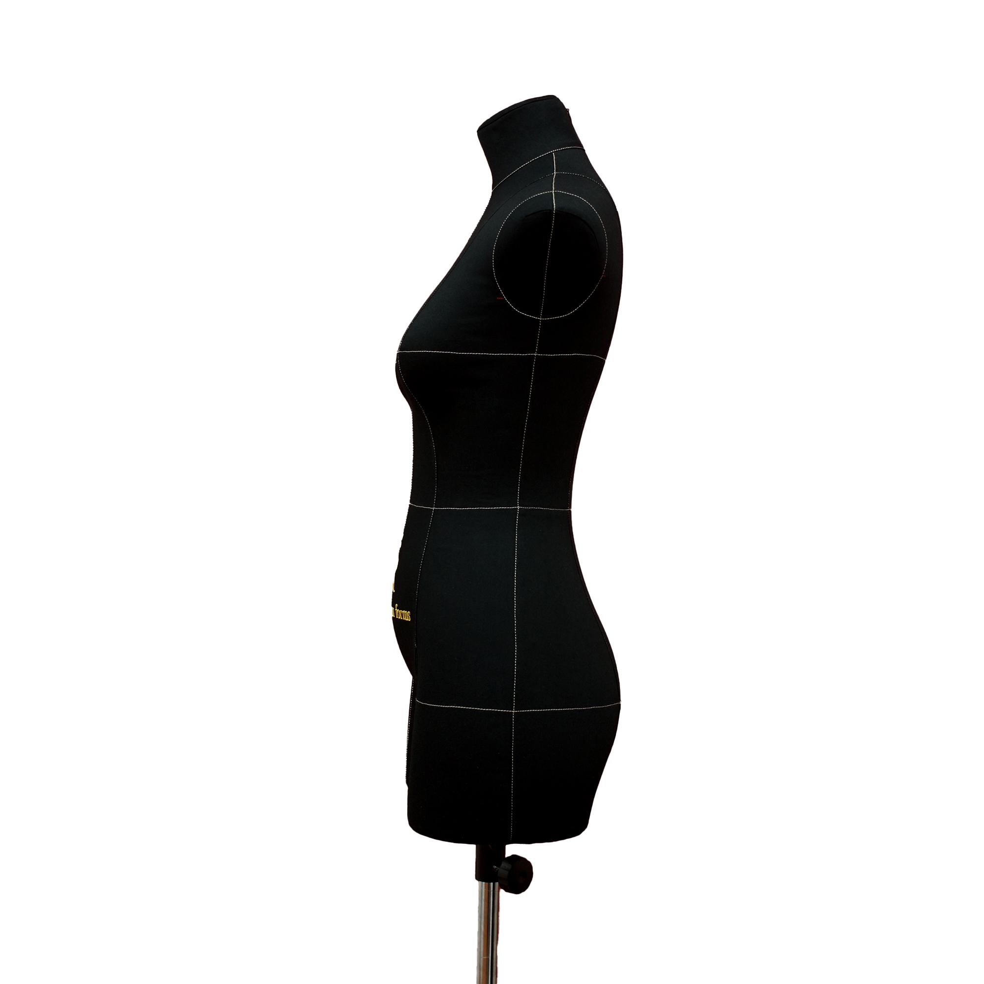 Манекен портновский Моника, комплект Премиум, размер 44, тип фигуры Песочные часы, черныйФото 2