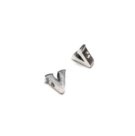 Alphabet letter V, sterling silver