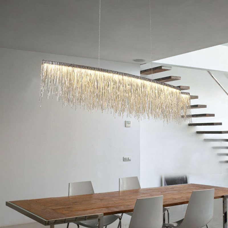 Подвесной светильник Waterfall by Light Room L100 (серебряный)