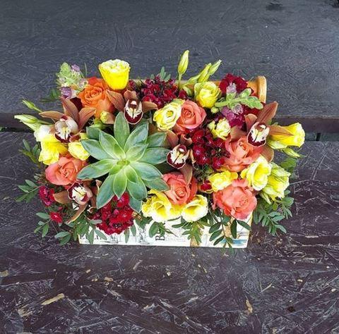Ящик с цветами Весенний 14