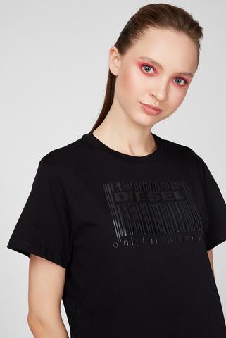 Женская черная футболка T-DARIA-E2 Diesel