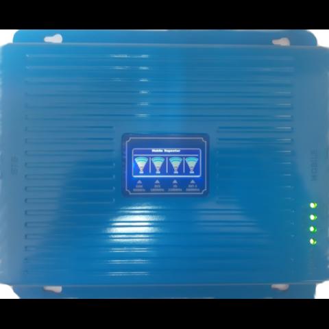 Блок - репитер для усиления GSM 900 DCS 4G 1800 3G 2100 МГц до 300м² LCD