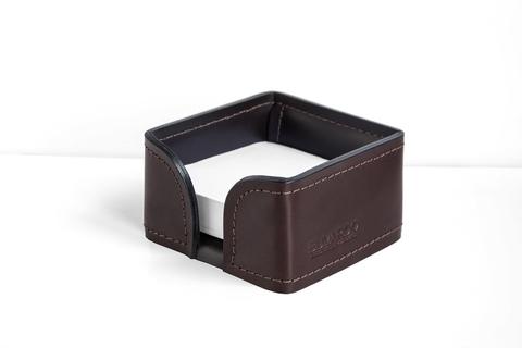 Лоток для блока бумаги PREMIUM из кожи  Full Grain Brown/Cuoietto черный