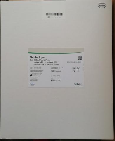 Пробирки для образцов входные (Input S-tubes, box of 12x24 with Clips), 12x24 Германия (Roche Diagnostics GmbH)
