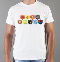 Футболка с принтом Игра престолов (Game of Thrones) белая 003