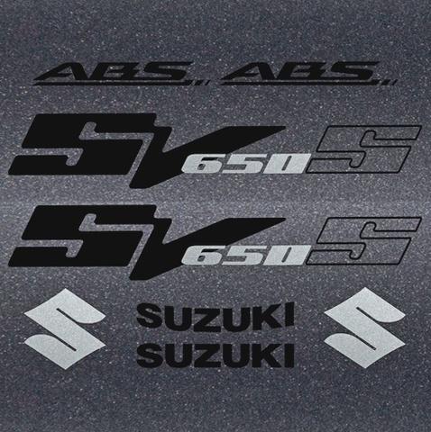 Набор виниловых наклеек на мотоцикл SUZUKI SV 650S 2007
