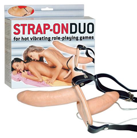 Страпон двойной для женщин с вибрацией