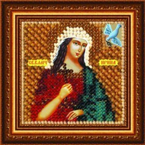 ема: Религия, иконы, святые¶Техника: Вышивание бисером¶Размер: 6,5х6,5см (в рамке 9х9 см)¶Основа: Тк