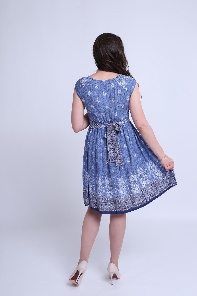 Фото платье для беременных MAMA`S FANTASY от магазина СкороМама, синий, размеры.