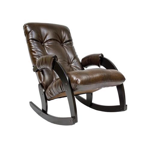 Кресло-качалка Модель 67 венге, к/з антик крокодил