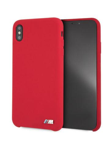 BMW / чехол для телефона iPhone XS Max | M-Collection Liquid silicone Hard TPU Red