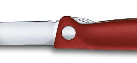 Нож Victorinox для очистки овощей, лезвие 11 см прямое, красный