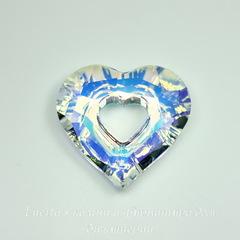 6262 Подвеска Сваровски Miss U Heart Crystal AB (26 мм)