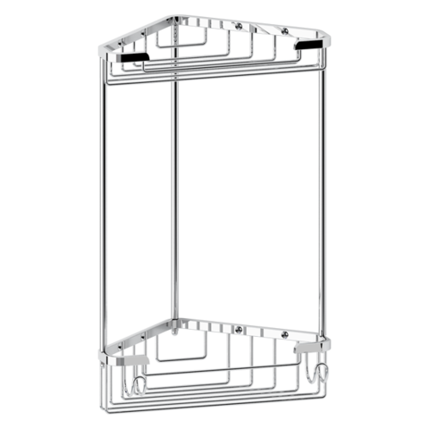 Полочка-решетка 2-х уровневая треугольная 18х18 см RYNA   RYN003 FBS