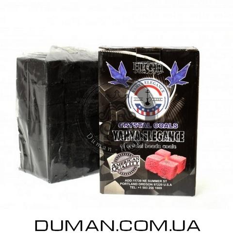Натуральный кокосовый уголь для кальяна Yahya Elegance (Яхуа Элеганс)   1кг 72куб 25*25мм