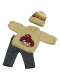 Вязаный комплект - Птица. Одежда для кукол, пупсов и мягких игрушек.