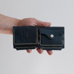 Гаманець з затиском Smart + KOZAK з відділом для монет, натуральна шкіра, ручна робота