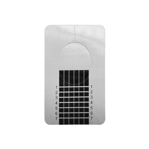 Формы для наращивания ногтей серебро (прямые-узкие), 500шт. в рулоне