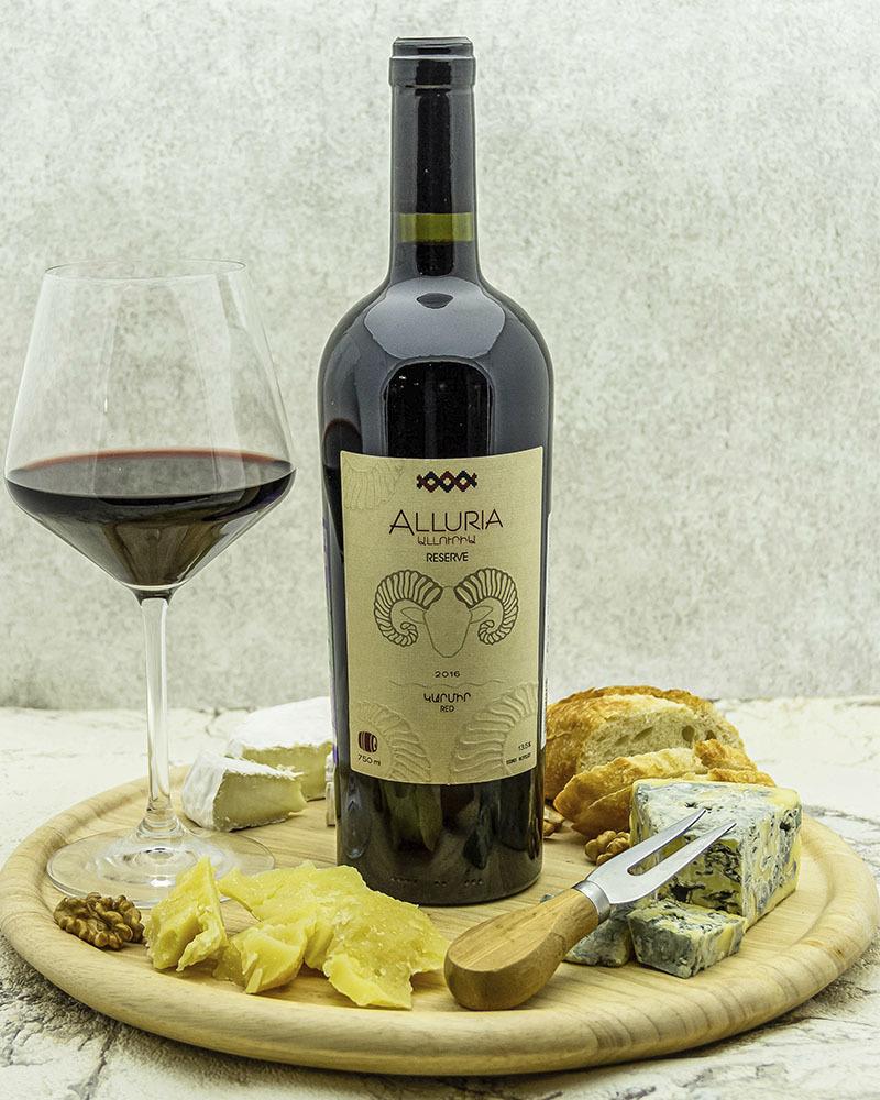 Вино Alluria Резерв Красное Сухое 2016 г. 14%, 0,75 л.