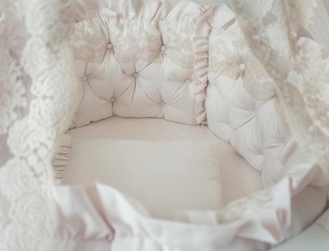 Комплект в круглую/овальную кроватки Жемчуг