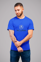 Мужская футболка с принтом Акура (Acura) синяя 001