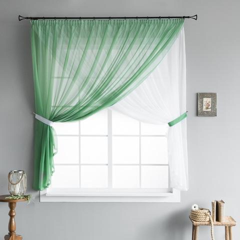 Готовая штора Star зеленый