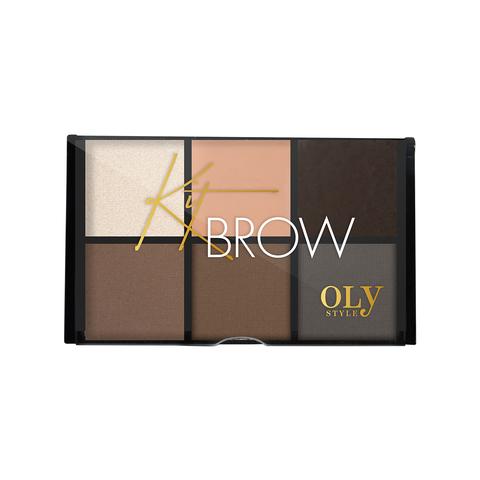 OLY STYLE Набор для бровей Kit Brow тон 02 коричнево-серый