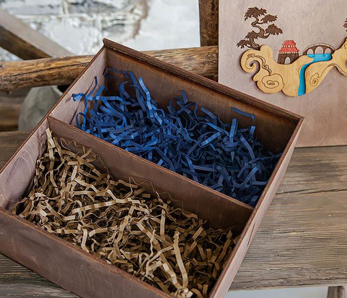 BOX233-3 Большая коробка «Синано» с художественной росписью (25*25*12 см) фото 11