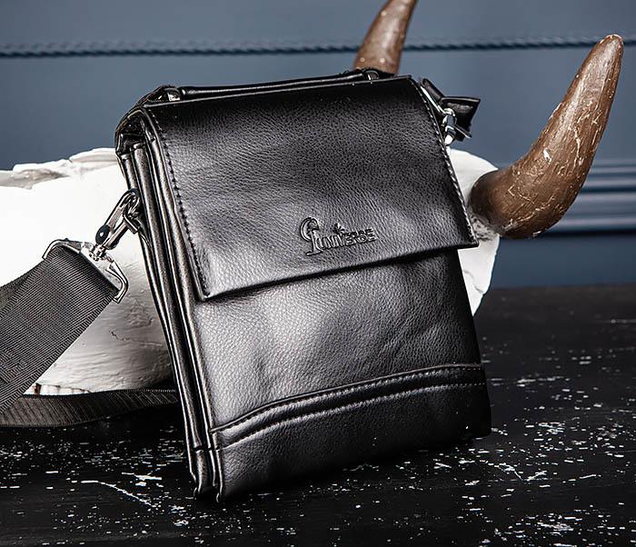 BAG560-1-5 Мужская сумка из кожи с ручкой и ремнем фото 03