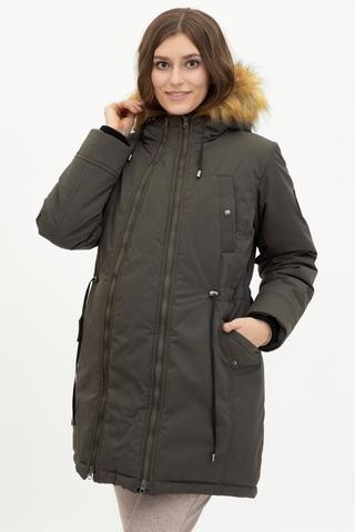 Куртка-парка 2 в 1 для беременных 11902 оливковый