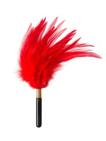 Красный перьевой тиклер Plume - 23 см.