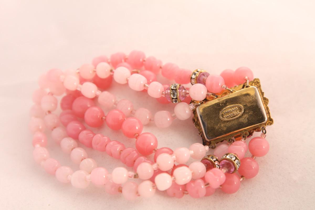 Элегантный розовый браслет от Miriam Haskell