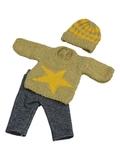 Вязаный комплект - Звезда. Одежда для кукол, пупсов и мягких игрушек.