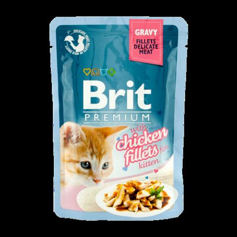 Brit Premium Kitten Консервы для котят куриное филе в соусе (пауч)