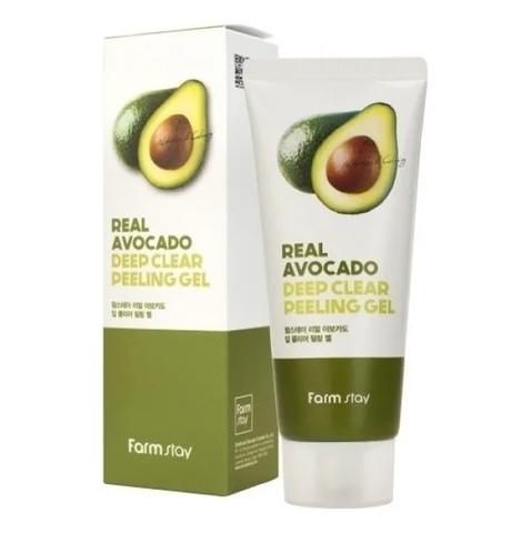 Мягкий отшелушивающий гель для лица с экстрактом авокадо Farm Stay Real Avocado Deep Clear Peeling G