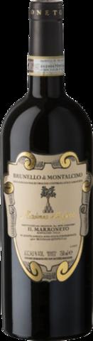 Il Marroneto Brunello di Montalcino Madonna delle Grazie в деревянной подарочной упаковке
