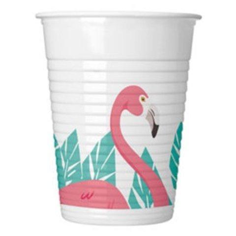 Стакан пласт Фламинго 200мл 8шт/Р