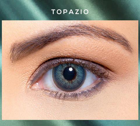 Голубые линзы ( бирюзовые ) Solótica® Solflex NC - Topazio