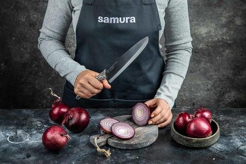 Кухонный фартук серый Samura Большой SAP-01G/K