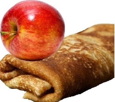 Блин с припущенным яблочком