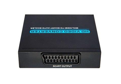 Конвертер HDMI to SCART преобразователь, переходник металл