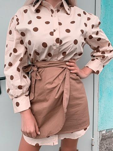 Рубашка-платье с принтом