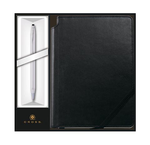 Набор подарочный Cross Classic Century  (3502/1M) Chrome шариковая ручка + записная книжка