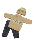 Вязаный комплект - Узор. Одежда для кукол, пупсов и мягких игрушек.